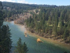 mouth Hangman Creek dumping sediment in Spokane River